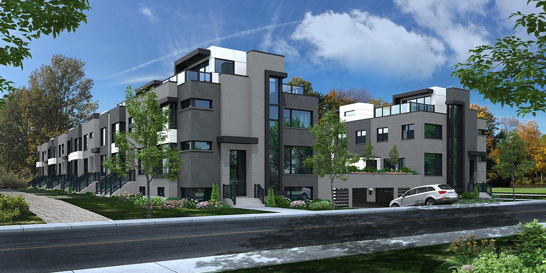 Découvrez Pür Urbain Candiac, 148 maisons de ville de style moderne ...